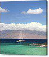 Sailing And Diving Maui Canvas Print