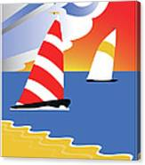 Sailing Before The Wind Canvas Print