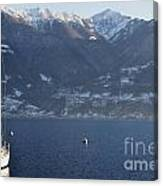 Sailing Boat On A Lake Canvas Print