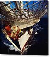Sailing, Figurehead On The Prow Of A Canvas Print