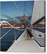 Sailing In The Bay Canvas Print