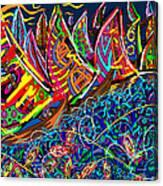 Sailing The Deep Blue Canvas Print