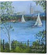 Sailing The Delaware Canvas Print