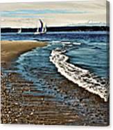 Sailing The Puget Sound Canvas Print