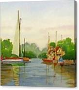 Sailing To The Harbour Canvas Print