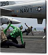 Sailors Give Launch Approval For An Canvas Print