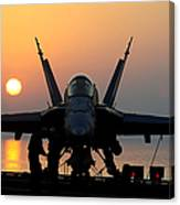 Sailors Prepare An Fa-18c Hornet Canvas Print