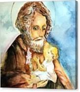 Saint Joseph And Child Canvas Print