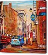 Saint Paul Street  Montreal Canvas Print