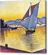 Saint Tropez At Sunset Canvas Print