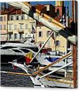 Saint Tropez Harbor Canvas Print