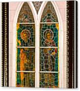 Saints In The Window Canvas Print