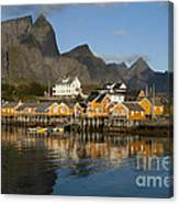 Sakrisoy Fishermen's Village Canvas Print