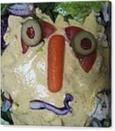 Salad Man Is Confused Canvas Print