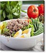 Salad Nicoise Canvas Print