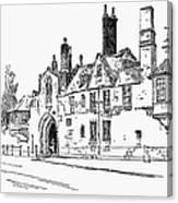 Salisbury Cathedral: Close Canvas Print