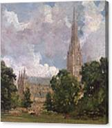 Salisbury Cathedral From The South West Canvas Print