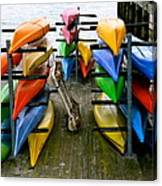 Salma Kayaks Canvas Print