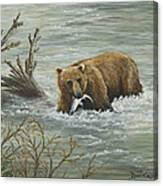 Salmon For Lunch Canvas Print