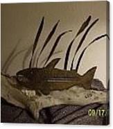 Salmon On Driftwood Canvas Print