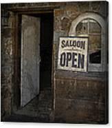 Saloon Open Canvas Print