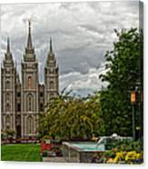 Salt Lake City Temple Grounds Canvas Print
