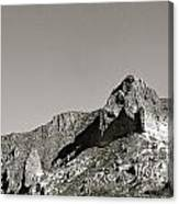Salt River Black And White Canvas Print