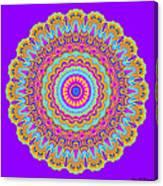 Saltwater Taffy Mandala Canvas Print
