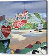 Salvation Mountain California 2 Canvas Print