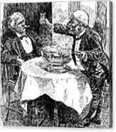 Samuel Clemens Cartoon Canvas Print