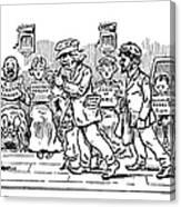 Samuel L. Clemens Cartoon Canvas Print