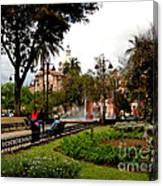San Blas Park In Cuenca Ecuador Canvas Print