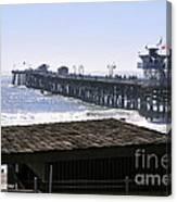 San Clemente Pier California Canvas Print