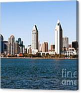 San Diego City Skyline Canvas Print