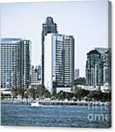 San Diego Downtown Waterfront Buildings Canvas Print