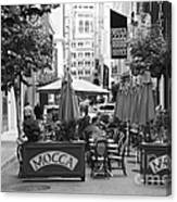 San Francisco - Maiden Lane - Outdoor Lunch At Mocca Cafe - 5d17932 - Black And White Canvas Print