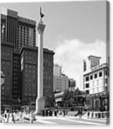 San Francisco - Union Square - 5d17933 - Black And White Canvas Print
