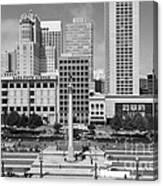 San Francisco - Union Square - 5d17938 - Black And White Canvas Print