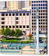 San Francisco - Union Square - 5d17938 - Square - Painterly Canvas Print