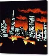 San Francisco Black Light Canvas Print