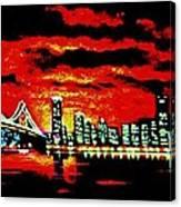 San Francisco By Black Light Canvas Print