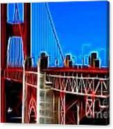 San Francisco Golden Gate Bridge Electrified Canvas Print