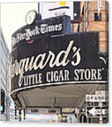 San Francisco Marquard's Little Cigar Store On Powell And O'farrell Streets - 5d17954 - Painterly Canvas Print