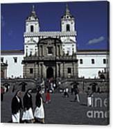 San Francisco Monastery Quito Ecuador Canvas Print