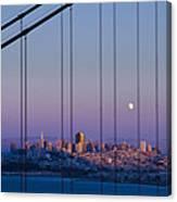 San Francisco Moon Canvas Print