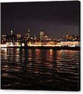 San Francisco Night View From The Ocean Canvas Print