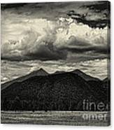 San Francisco Peaks In Black And White Canvas Print