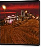 San Francisco Red Sky Pier Canvas Print