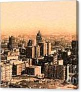 San Francisco Skyline 1909 Showing South Of Market Street Canvas Print