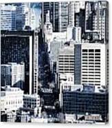 San Francisco Skyline-grunge Canvas Print